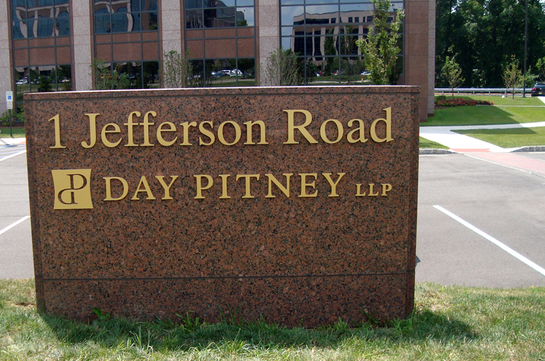 Exterior Corporate ID Logo and Building Address
