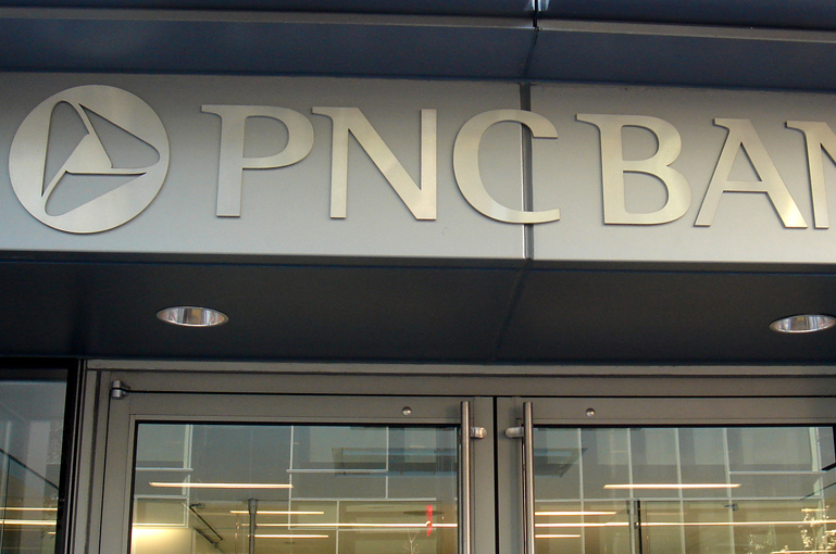 PNC Bank Exterior Coproate ID Logo
