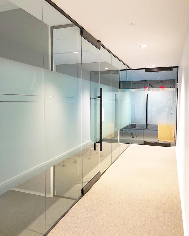 Glass Vinyl Installation