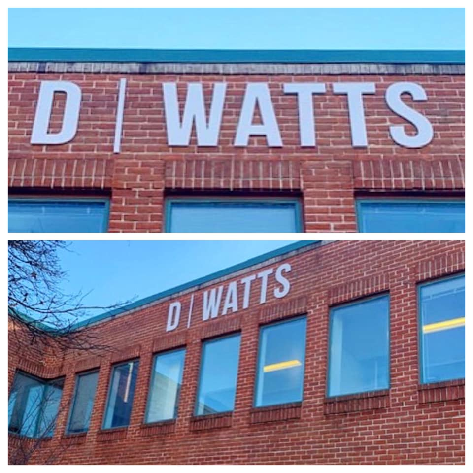 D Watts Construction Exterior Logo