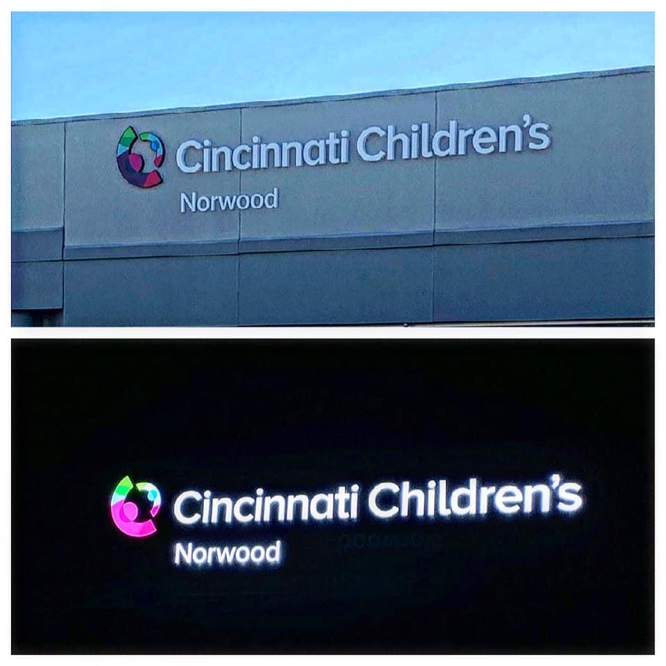 Cincinnati Children's Exterior Sign