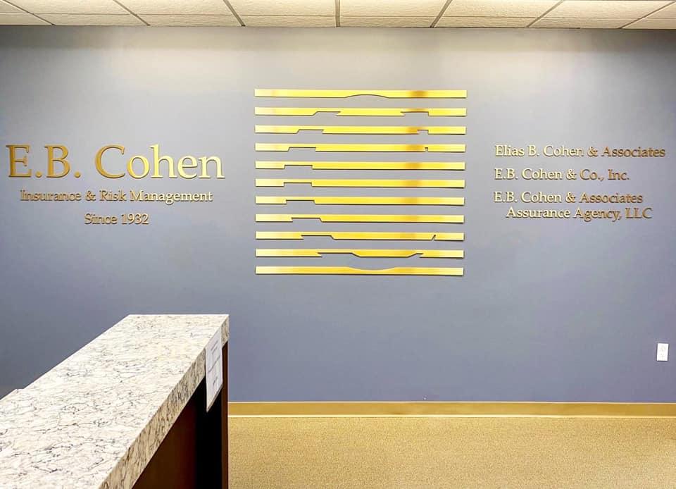 E.B. Cohen Reception Signage