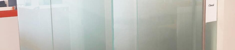 Dusted crystal film w/ orange letters